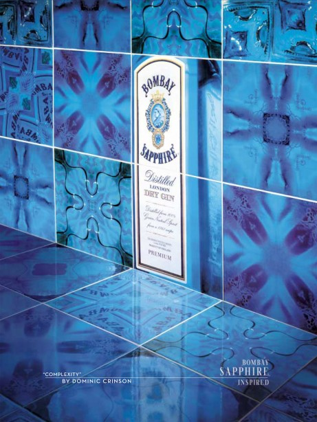 Dominic Crinson's tiles for Bombay Sapphire