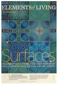 Elements of Living Surfaces Issue (Front Cover) press cutting