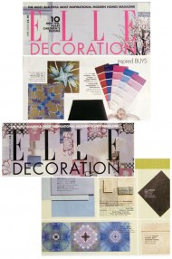 Elle Decoration 2 issues press cutting